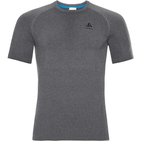 Odlo Suw Performance Warm Crew Neck T-shirt Heren, grey melange/black